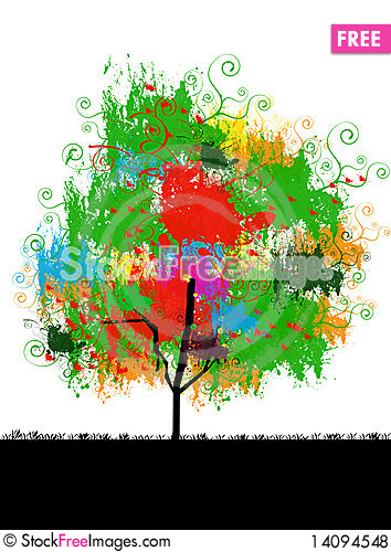 Free Picture Of Tree With Colorful Leaves Royalty Free Stock Photos - 14094548