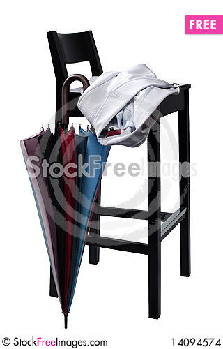 Free Chair And Umbrella Stock Images - 14094574