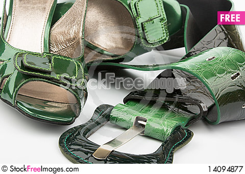 Free High Heels Shoes And Belt Royalty Free Stock Photography - 14094877