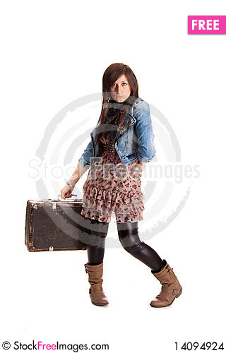 Free Girl With Baggage Stock Images - 14094924