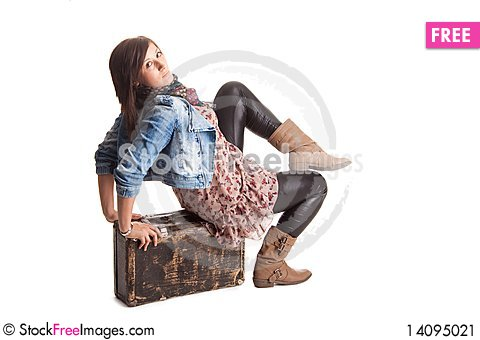 Free Girl With Baggage Stock Image - 14095021