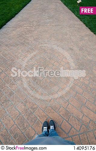 Free Walk On Path Royalty Free Stock Image - 14095176