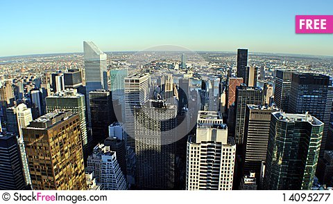 Free Midtown Manhattan Skyline Royalty Free Stock Photography - 14095277