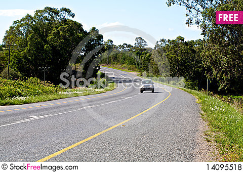 Free Car On Road Royalty Free Stock Photos - 14095518