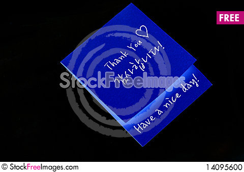 Free Thank You Note Stock Photo - 14095600