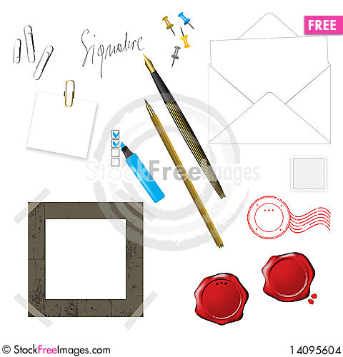 Free Writing Pen And Other Objects Stock Images - 14095604