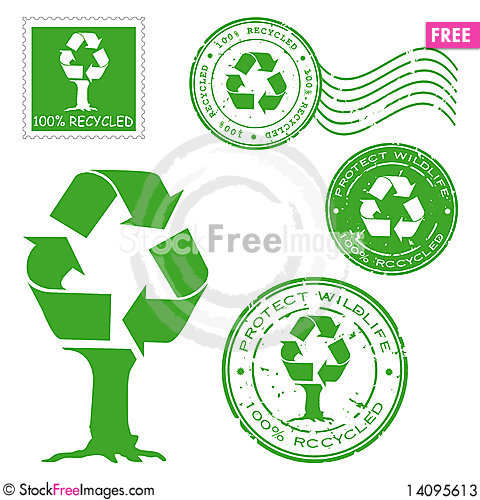 Free Recycled Written Inside The Stamp Stock Photos - 14095613