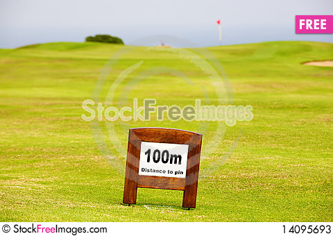 Free Fairway Marker Stock Photos - 14095693