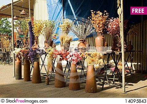 Free Display Of Dry Flowers Stock Photos - 14095843