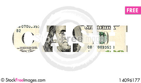 Free Cash Royalty Free Stock Photography - 14096177