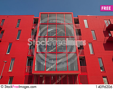 Free Red Apartments Royalty Free Stock Image - 14096206
