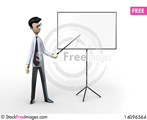 Free Business Men With A Blank Billboard Stock Images - 14096564