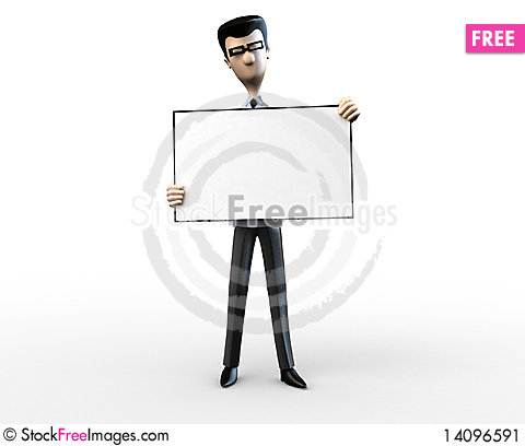 Free Business Men With A Blank Billboard Stock Image - 14096591