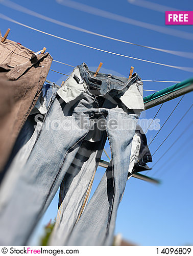 Free Drying Laundry Royalty Free Stock Images - 14096809