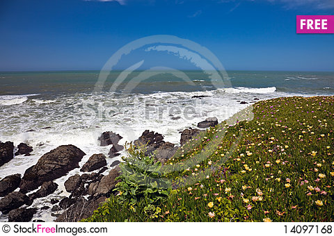 Free Ocean Coastline Landscape Royalty Free Stock Photos - 14097168