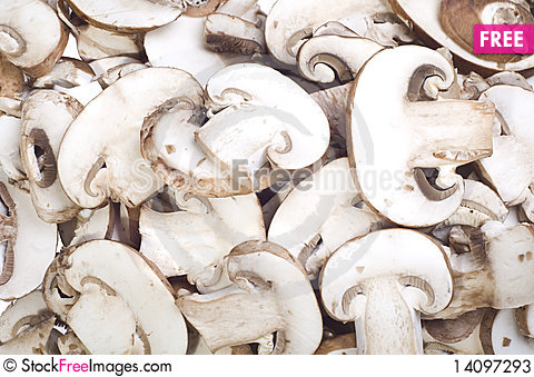 Free Sliced Mushrooms Stock Photos - 14097293