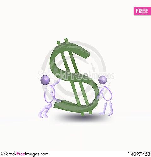 Free Dollar Falling. Stock Photos - 14097453