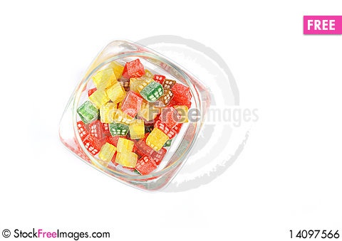 Free Delicious Sweet Candies In Sugar Royalty Free Stock Image - 14097566