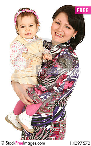 Free Happy Mother With Little Daughter Stock Photography - 14097572