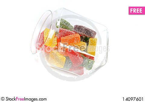 Free Delicious Sweet Candies In Sugar Stock Image - 14097601