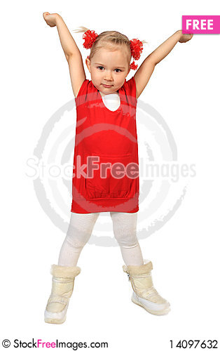 Free Little Funny Girl Stock Photography - 14097632