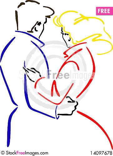 Free Vector Illustration Embracing Men And Women Royalty Free Stock Photos - 14097678