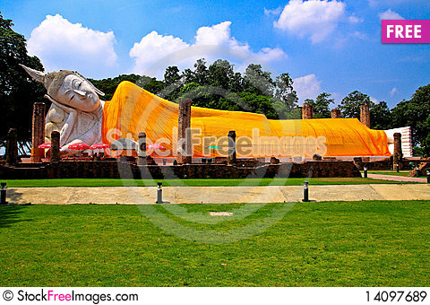 Free Reclining Buddha Royalty Free Stock Images - 14097689