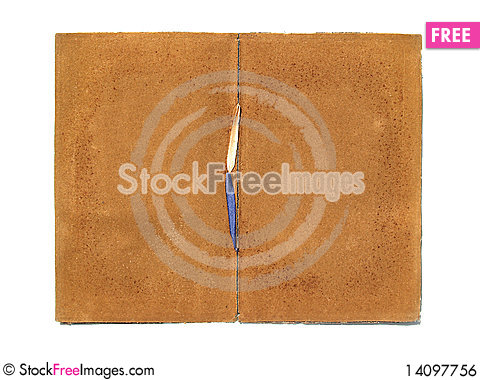 Free Antique Certificate Holder Inside Royalty Free Stock Image - 14097756