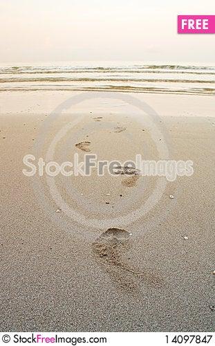 Free Footprint Royalty Free Stock Photography - 14097847