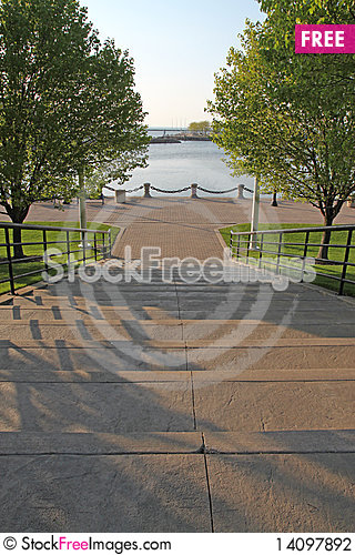 Free Stairway To The Water Stock Photography - 14097892