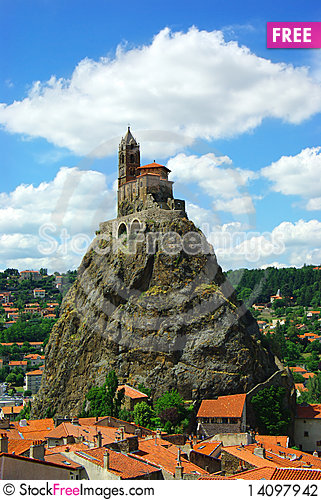 Free Temple On The Hill In Le Pyui, France Stock Photography - 14097942