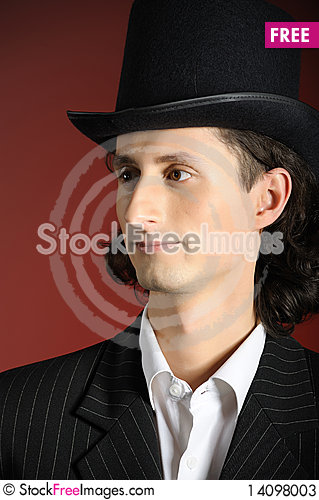 Free Picture Of Young Intelligent Retro Man Stock Photos - 14098003