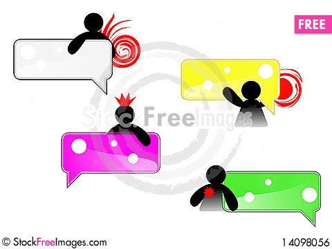 Free Small Man Grab Tag Icon Royalty Free Stock Image - 14098056