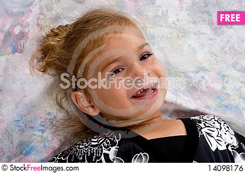 Free Portrait Of Pretty Little Girl Royalty Free Stock Image - 14098176