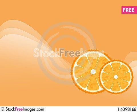 Free Abstract Orange Background Royalty Free Stock Photos - 14098188