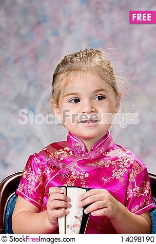 Free Portrait Of Pretty Little Girl Stock Photo - 14098190