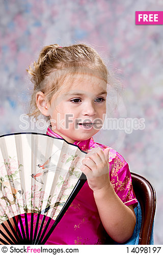 Free Portrait Of Pretty Little Girl Royalty Free Stock Photography - 14098197