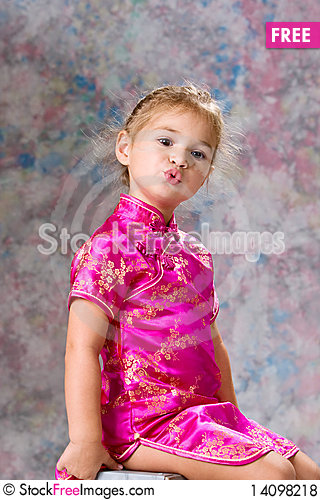 Free Portrait Of Pretty Little Girl Royalty Free Stock Photos - 14098218