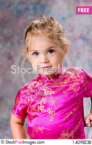 Free Portrait Of Pretty Little Girl Royalty Free Stock Photos - 14098238
