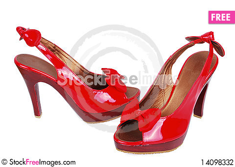 Free Red Fashion Shoes Stock Photography - 14098332