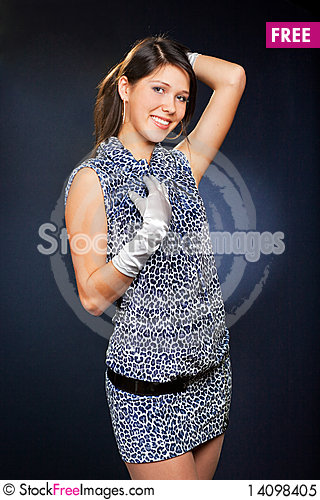 Free Woman In Dress And Gloves Royalty Free Stock Photo - 14098405