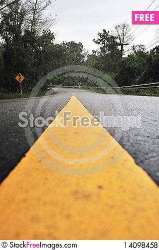 Free Curves On The Mountain Royalty Free Stock Photos - 14098458