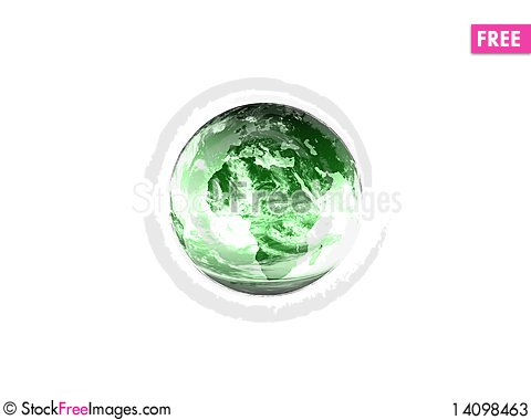 Free Green Glass Earth Stock Photos - 14098463