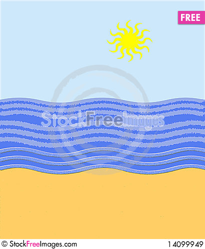 Free The Sea And Sun Royalty Free Stock Images - 14099949