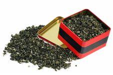 Green Tea Leaves Stock Image