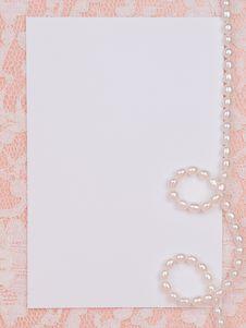 White Card For Congratulation Stock Photo