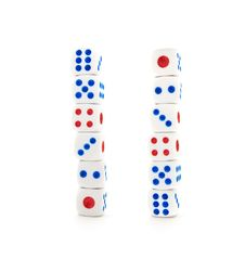 Set Of White Dices Stock Images