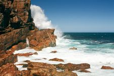 Rough Coast Of The Cape Of Good Hope, South Africa Stock Photos