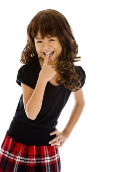 Free Cute Girl Biting Her Finger Stock Photography - 14091982