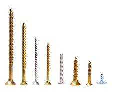 Free A Lot Of Screws Horisontally Descending Aligned Stock Images - 14092054